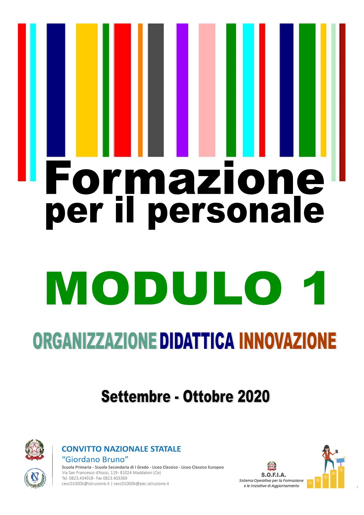 Corso di Formazione per l'innovazione didattica e organizzativa – Modulo 1
