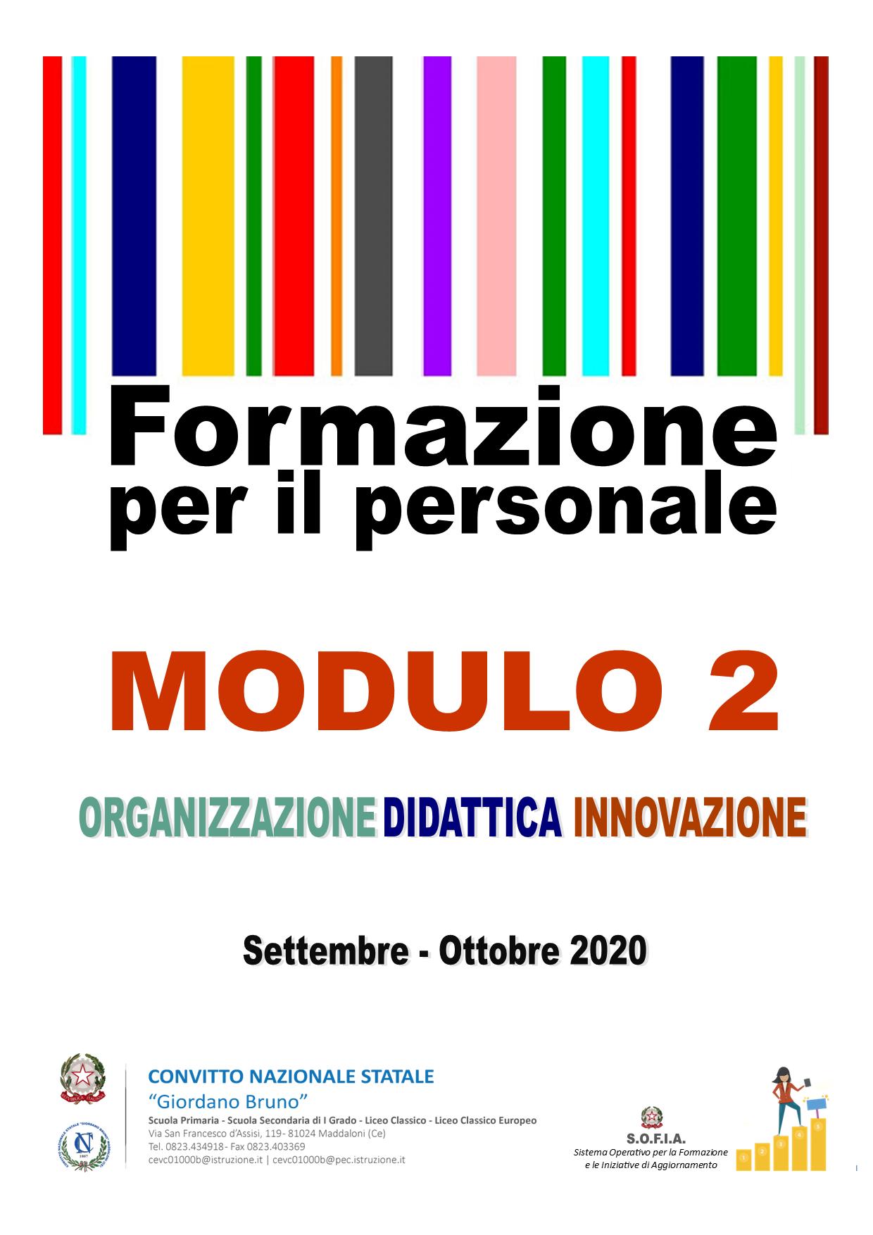 Corso di Formazione per l'innovazione didattica e organizzativa – Modulo 2